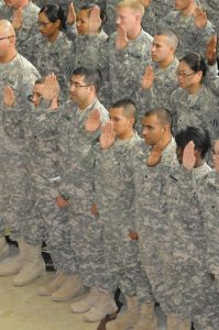 u.s. citizenship for military service members taking oath