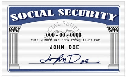 social security number with data
