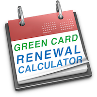 renewal calculator for green cards