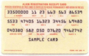 history green card resident alien i-551