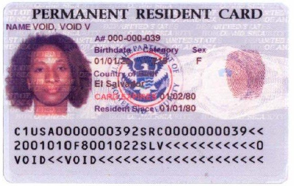 permanent residence card 1997-2010
