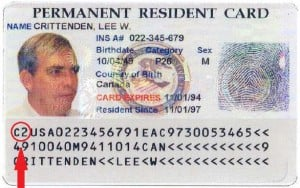permanent resident in commuter status green card