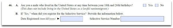 failing to register for selective service