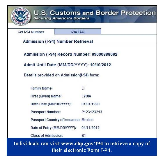 i 94 form uscis  How to Find an Electronic I-10 Record | CitizenPath