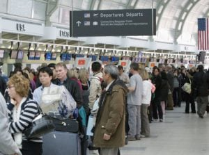 green card is lost airport lines