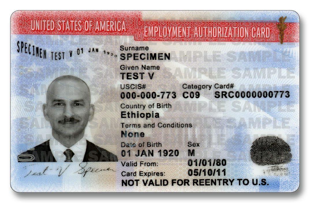 employment authorization card