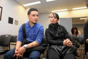 couple waiting for green card marriage interview