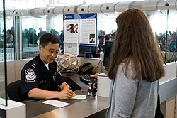 cbp officer inspects expired green card at port of entry