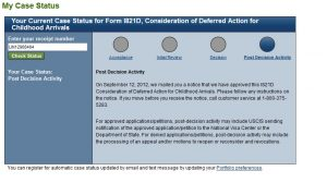 how to get uscis status update