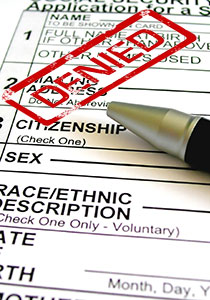 green card application denied