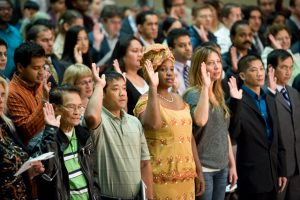 oath ceremony during naturalization
