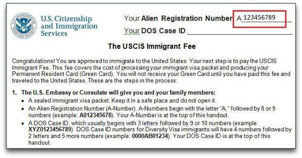 a number can be found on immigrant fee handout
