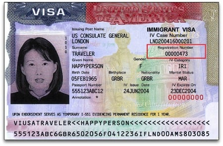 Find A Number on Immigrant Visa