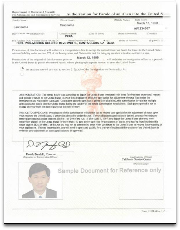 Advance Parole Document Explained Citizenpath