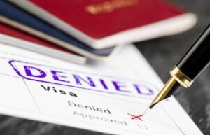 Form I-485 Denied subject to bars of adjustment