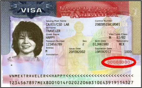 nonimmigrant visa number