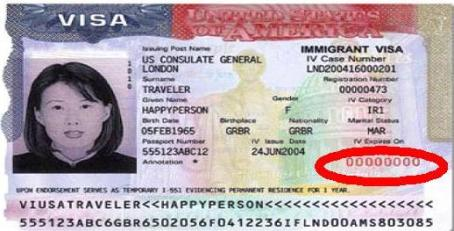 where is location of the visa number