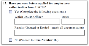 which uscis office form i-765