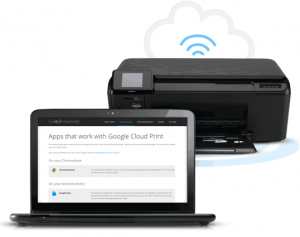 print from mobile device with google