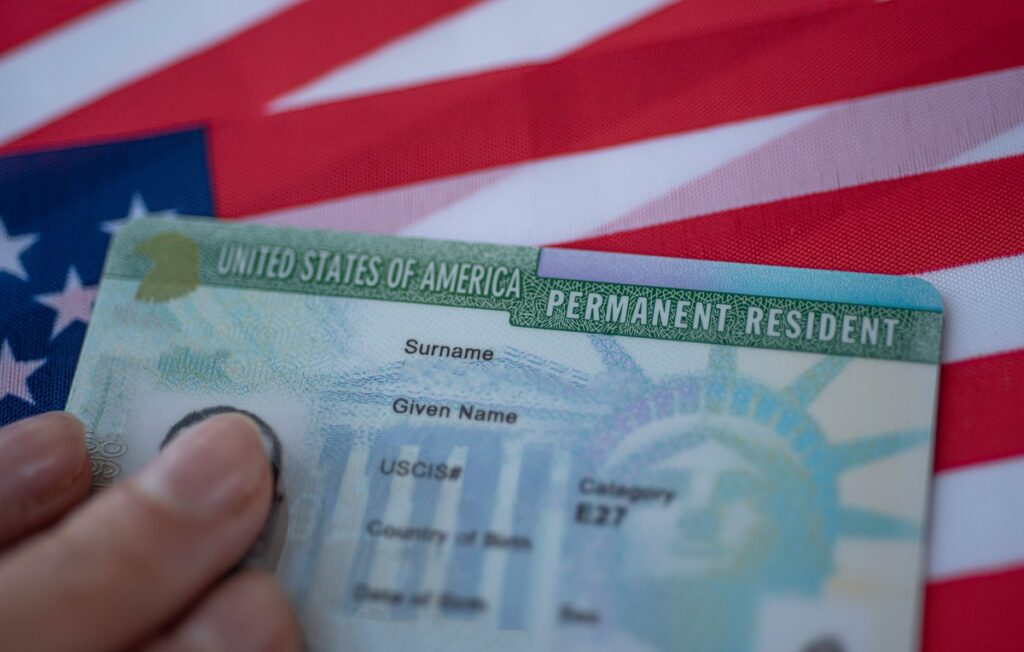 Newly issued green card