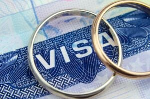 immigration by marriage, wedding rings on US visa