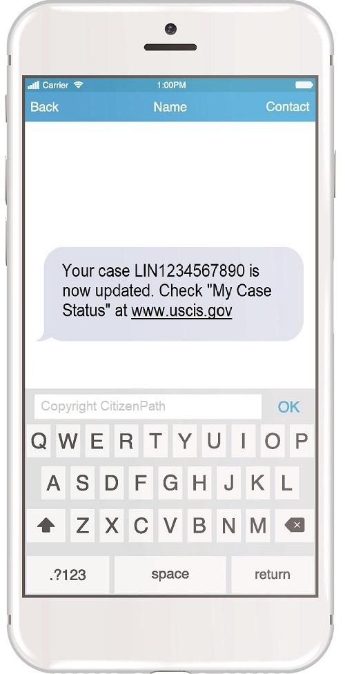 g-1145 text notification when renewing a green card