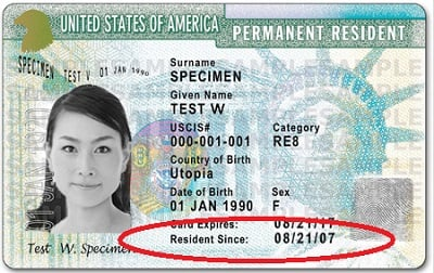 green card continuous residence since
