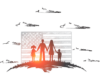 American immigration family
