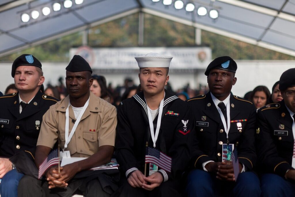 Immigrant veterans quotations from U.S. veterans in the Army, Navy, Air Force, Marines