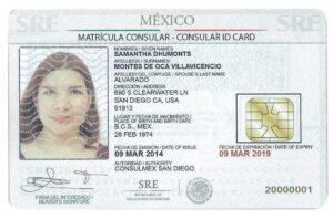 Sample matricula consular card