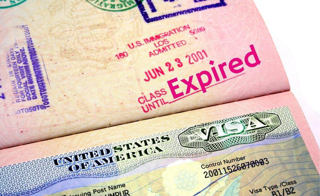 Visa Overstay: US visa shows expired status
