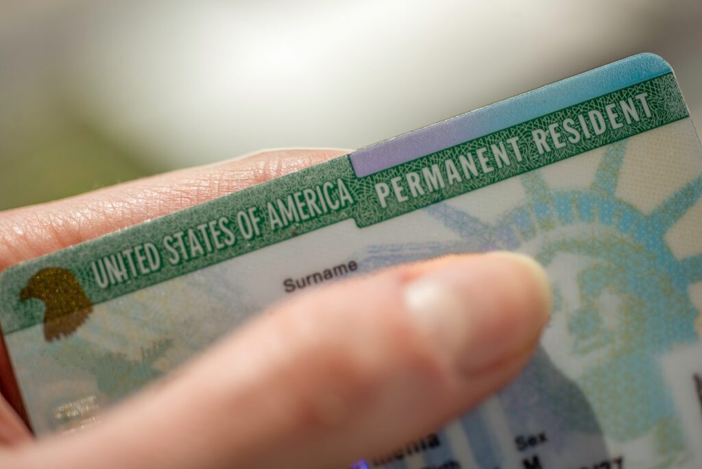 Person with a permanent resident card - green card name change process