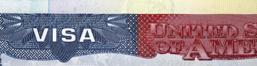 Visa emblem of a visa that requires nonimmigrant intent