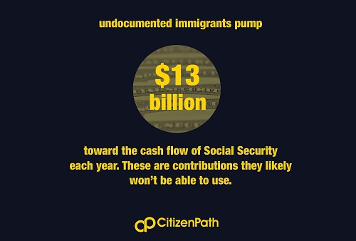 Infographic: Undocumented immigrants pump $13 billion into Social Security each year.