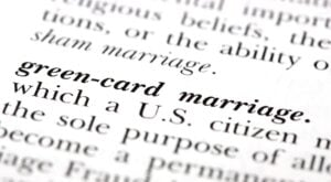 Green card through marriage defined by USCIS