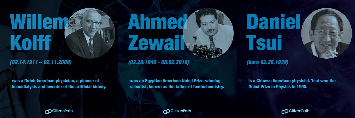 Immigrant STEM innovator: Ahmed Hassan Zewail was an Egyptian American Nobel Prize-winning scientist, known as the father of femtochemistry.