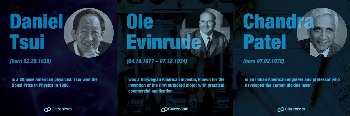 Immigrant STEM innovator: Ole Evinrude was a Norwegian American inventor, known for the invention of the first outboard motor with practical commercial application.