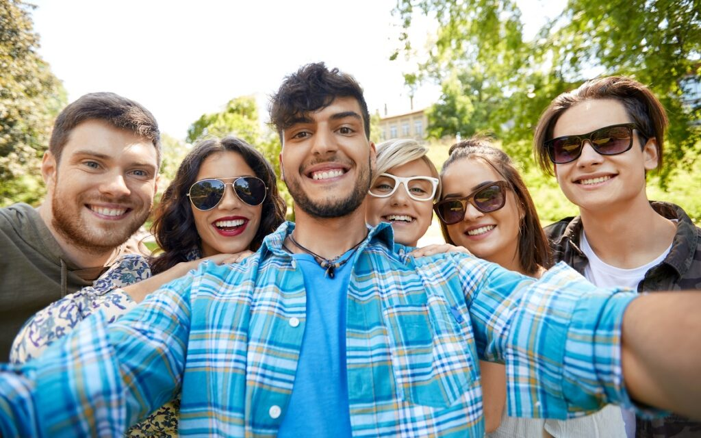Group of young Dreamers pose for selfie