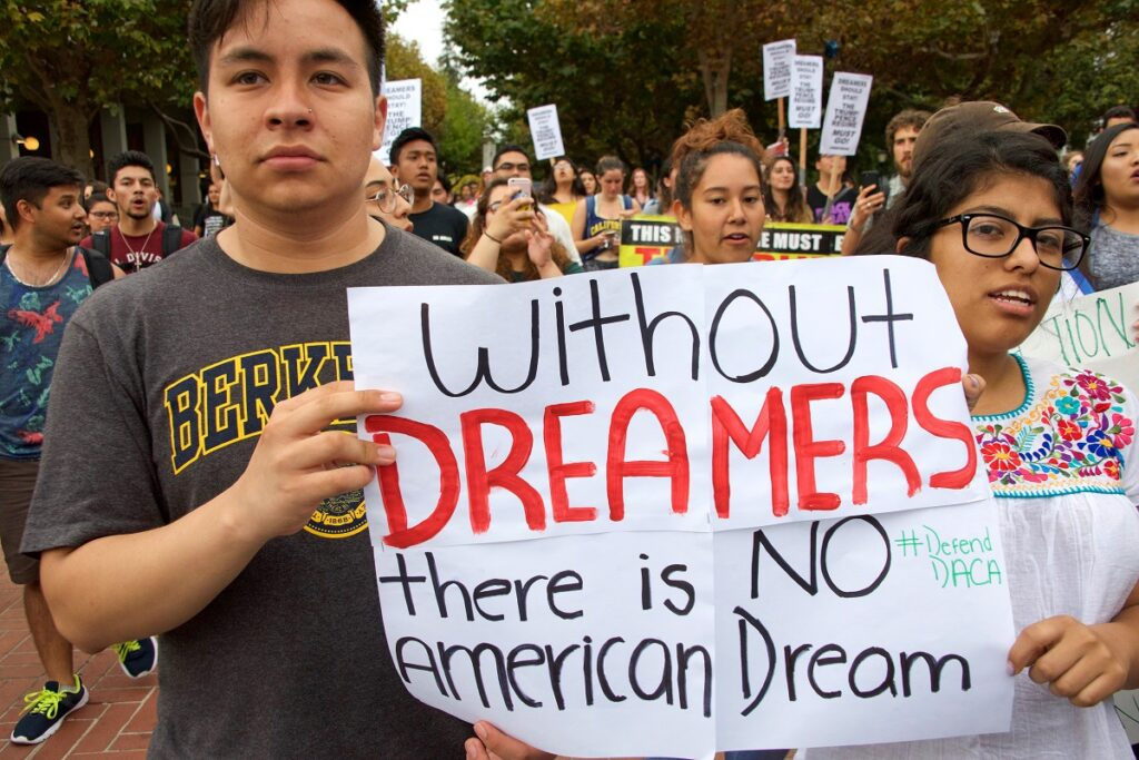 Dreamers march for DACA benefits