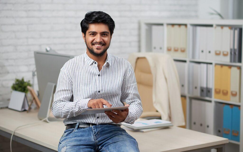 Startup founder using the international entrepreneur parole program