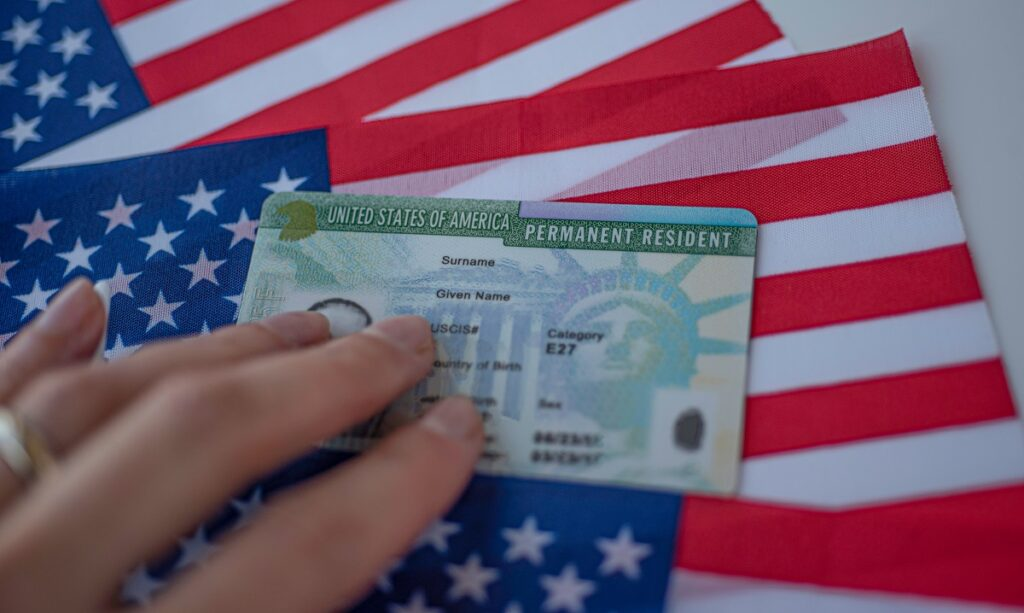 Filling out the green card renewal application (Form I-90)
