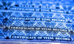 Copies of vital records